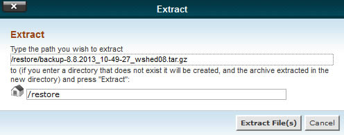 cpanel-extract-files