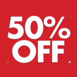 Afbeeldingsresultaat voor 50 % off sale